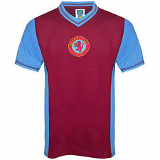 Aston Villa Football Club Official Football Gift Mens 1982 Retro Home Kit Shirt