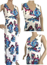 Wallis Grecian White Cerise Blue Floral Summer Maxi Dress Size 10 12 14 New