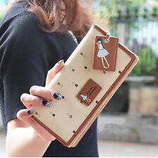 Women PU Leather Wallet Lady Long Card Holder Handbag Bag Clutch Purse US Stock