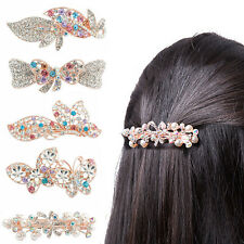 Hot Sell Crystal Full Drill Barrette Pearl Rhinestone Hairpin Hair Clips Gifts