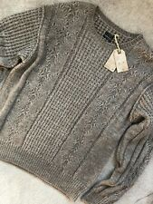 "ALL SAINTS TAUPE MARL ""LOCH"" CREW WOOL JUMPER SWEATSHIRT TOP - M XXL - NEW TAGS"