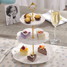 3 Tier Cake Plate Stand Cupcake Fittings Silver Golden Wedding Party Cocktail