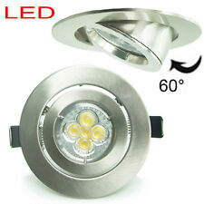 50X 10W LED GU10 Brushed Chrome angled Recessed Ceiling Down spot light Dimmable
