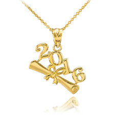 2016 Class Graduation 14k Gold Pendant Necklace