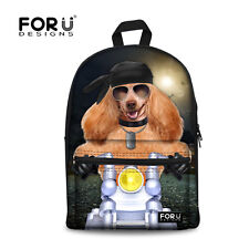 Cool Dog Girl Women Bookbag TRAVEL Rucksack School Bag Satchel Backpack Fashion