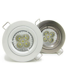 10X 5W LED GU10 Downlight Kit Recessed Ceiling Down Light dimmable chrome white