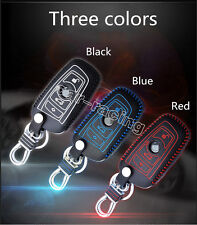 Real Leather Smart Remote Key Case Cover Holder Fit For BMW 1 3 5 6 7 Series X1