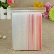 Transparent Re-Sealable Grip Ziplock Self Adhesive pouch bags Clear Seal Pack