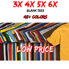 3XL 4XL 5XL 6XL Men's Blank T Shirt Big 3X 4X 5X 6X Plain T-Shirt