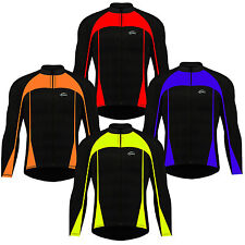 Mens Winter Cycling Jersey Windproof Jacket Full Sleeves Fleece Top Cycle Jersey