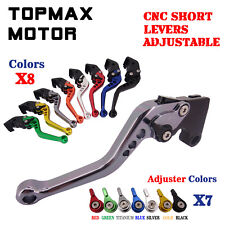 CNC Short Adjustable Brake Clutch Levers for Triumph DAYTONA 600/650 955i 04-06
