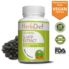 5 HTP 100mg Capsules Depression Anxiety Insomnia Relief Boosts Serotonin Mood
