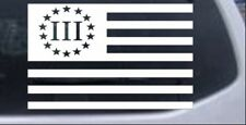 Three Percent American Flag Car or Truck Window Laptop Decal Sticker