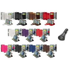 Credit Card Holder ID Wallet Case Cover Flip Pouch+Car Charger For iPhone 5 5S