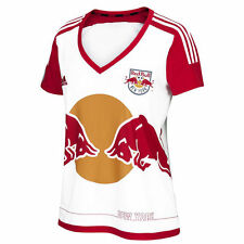 adidas New York Red Bulls MLS 2016 Womens Soccer Home Jersey White / Red / Navy