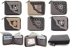 RODEO WHOLESALE LOT OF GENUINE LEATHER WESTERN WALLETS BI-FOLD ZIPPER AROUND