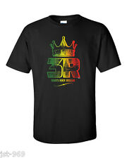Roots Rock Reggae T-Shirt Jah Rasta Jamaica Music Rastafari HIM Ragga Dancehall