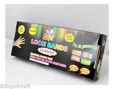 Loom Bands Kit includes 600 Rubber bands board hook and clips UK Seller