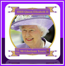 HM QUEEN ELIZABETH II 90th BIRTHDAY COMMEMORATIVE DRINKS COASTER