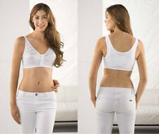 Front Fastening Firm Bra Lace White Size 32 34 36 38 40 42 44 46 Cup A B C D DD