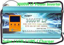 3000W,5000W,6000W,8000W LF Power Inverter 12V,24V,48V DC Solar/LCD/UPS/Charger