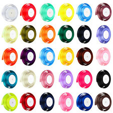 22 Metres of Satin Ribbon 15mm wide in Multiple Colours sold by rolls