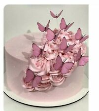 100 MACAROON EDIBLE WAFER FLOWERS CUPCAKE TOPPERS Birthday Wedding TEA PARTY