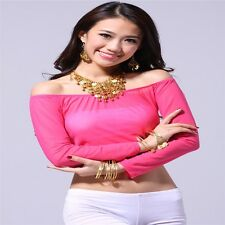 Belly Dance Shoulderless Gauze Tops Dancing Tribal Bra Costume