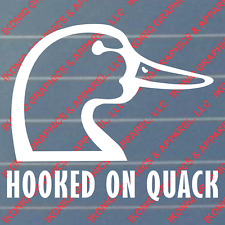 Hooked On Quack Decal - hunting, duck, truck sticker