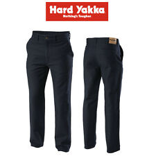 Mens Hard Yakka Jeans Foundations Trousers Moleskin Pants Navy Heavy Duty Y03876