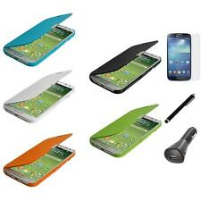 Wallet Magnetic Hard Pouch Cover Case+LCD+Charger+Pen for Samsung Galaxy S4 SIV