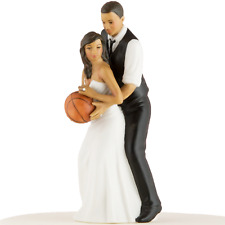 Basketball Wedding Cake Topper African American Bride and Groom Personalized