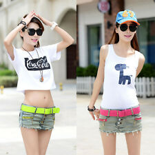 Hot Sexy Women Slim Mini Jeans Shorts Style Skirts Pink Green Zippers Low Waist