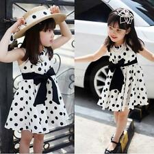 One-Piece Kids Girls Child Clothing Polka Dot Chiffon Sundress Short Dress Skirt