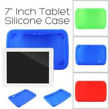 "7"" Inch Rubber Cover Case Tablet Soft Silicone PC For Q8 Android Kids Girls Boys"