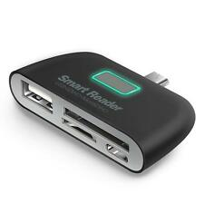 Applied 4 in 1 OTG/TF/SD Smart Card Reader Adapter Micro USB Charge Durable Port