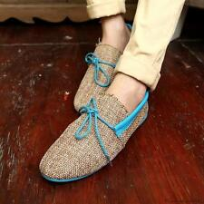 New Fashion England style Mens lace up flax Breathable Recreational Casual shoes