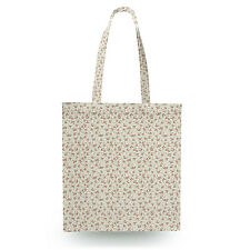 Shabby Chic Roses on Green Canvas Tote Bag - 16x16 inch Book Gym Bag