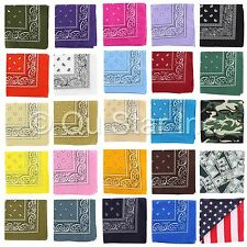 WHOLESALE LOT OF 12PCS CLASSIC PAISLEY PATTERN HEAD WRAP WRISTBAND SCARF BANDANA