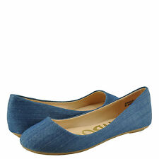 Women's Shoes Bamboo Standouts 30 Round Toe Ballet Flats Blue Denim *New*