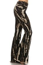 New T-PARTY MARBLE TIE DYE FLARED TRIO-COLOR YOGA PANTS, S M L