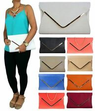 LADIES RETRO SNAKE SKIN FAUX LEATHER PARTY PROM EVENING CLUTCH HANDBAG PURSE