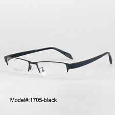 1705 Men halfrim metal RX optical frames prescription spectacles myopia eyewear