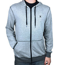 HURLEY. Nike Dri Fit Zip Up Hooded Jumper. Grey / Blue. Sizes: S, M, L, XL, XXL.