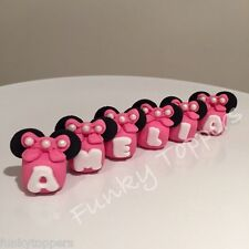 Edible Letters Personalise Name Blocks Disney Minnie Mouse Cake Decorations