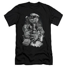 Popeye Men's  Mine All Mine Slim Fit T-shirt Black Rockabilia