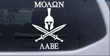 Spartan Helmet Molon Labe Car or Truck Window Laptop Decal Sticker
