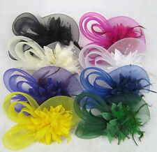 Hair Accessories Flower Feather Hair band Fascinator Women Hairpin Clip