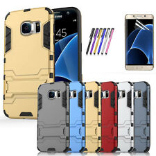 Rugged Armor Dual Layer  Defender stand  Cover Case For Samsung Galaxy S7 Edge