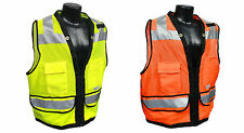 Heavy Duty Surveyor Safety Vest ANSI/ISEA 107-2010 Class 2 Construction #SV59Z